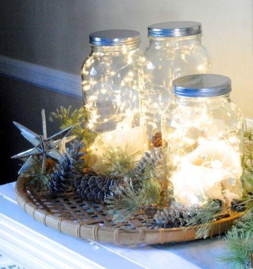 mason jars fairy lights