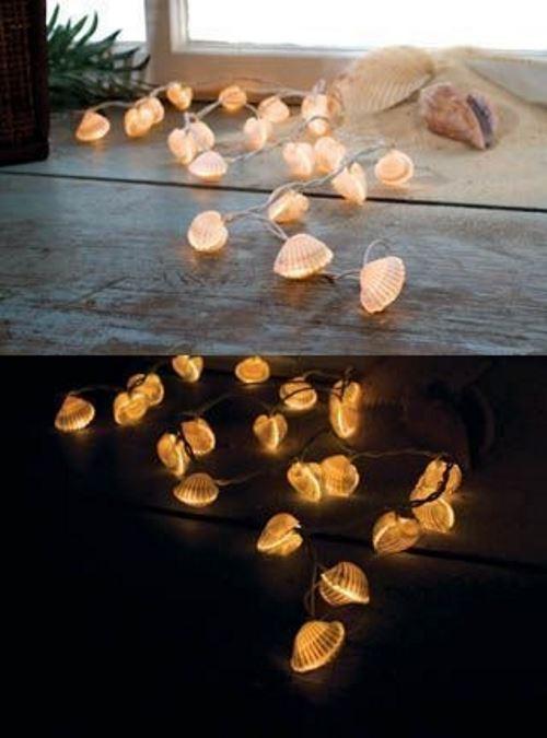 string lights for a beach-inspired night light