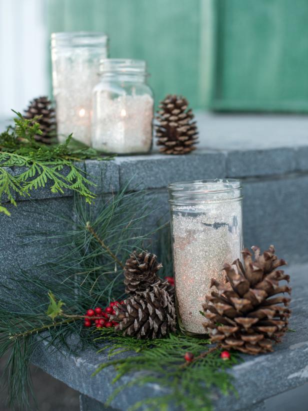 glittering-mason-jars